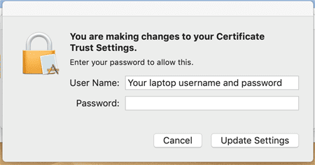 Laptop username and password login window.