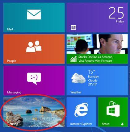 Windows 8 desktop tile.