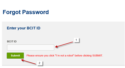 Enter your BCIT id window.