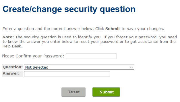 Create_change security question window.