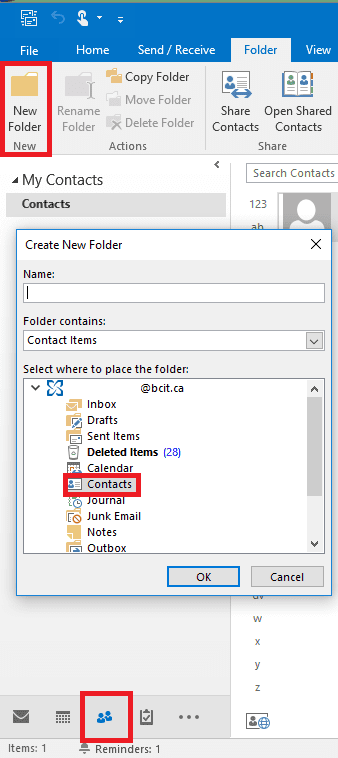 Web snippets of sharing groups in Outlook