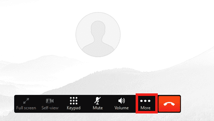 Screen shot of setting up a conference call