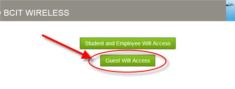 Web page snippet guest wifi access.