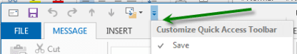 Web page snippet Outlook mailbox size