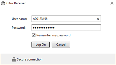 Citrix receiver enter bcit id and password credentials.