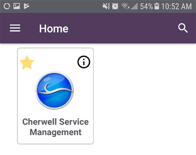 Android device cherwell service management icon.