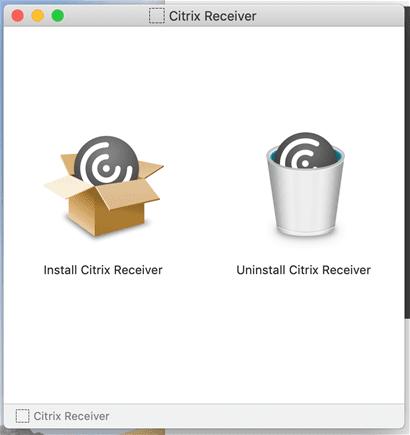 macOS install citrix receiver installer window.