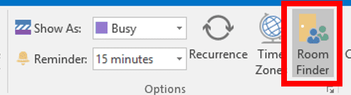 Web snippet training for Outlook meeting rooms
