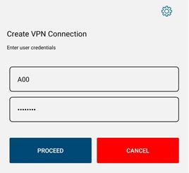 Screen shot of create vpn connection bcit id and password fields.