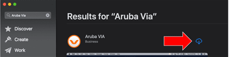 Screen shot results for aruba via.