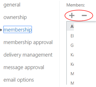 Web snippet - adding groups to Outlook