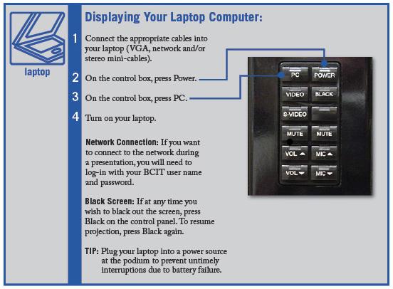 Displaying your laptop computer window.