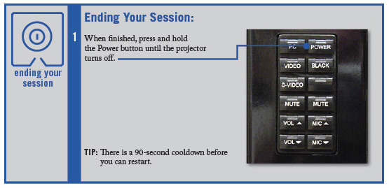 Ending your session window.