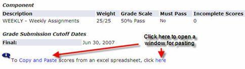 Gradebook instructions - weekly assignments