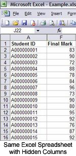 Gradebook instructions - student id page.