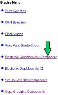 Gradebook instructions - menu sample