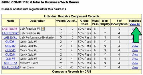 Gradebook instructions individual gradable component records.