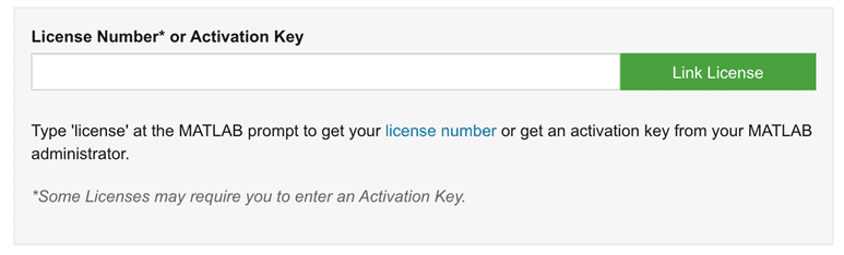 Registration key for mathworks