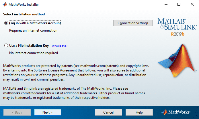 configuration settings for mathworks
