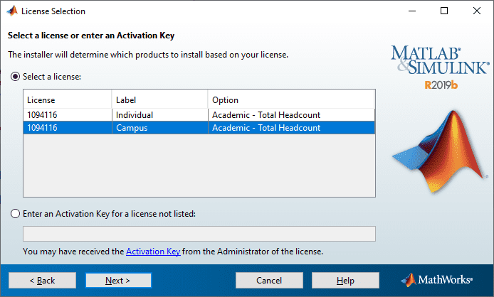 activation key for mathworks