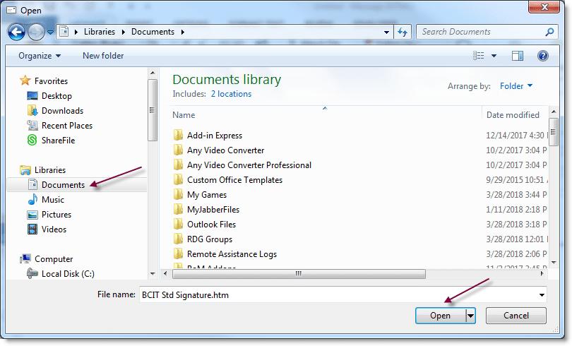 screenshot folder view