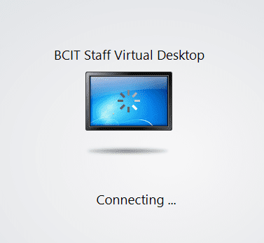 Icon - BCIT staff virtual desktop - connecting