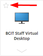 BCIT staff virtual desktop screen shot icon