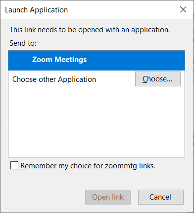 Launch applications menu in Zoom.