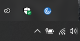 a windows taskbar icon menu that is displaying the circular blue citrix workspace icon