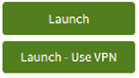 "screen capture of two green buttons from AppsAnywhere, one saying ""Launch"" and the other ""Launch - use VPN"""
