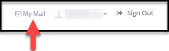 Scrrenshot of My Mail link in myBCIT