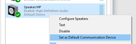 choose the default device