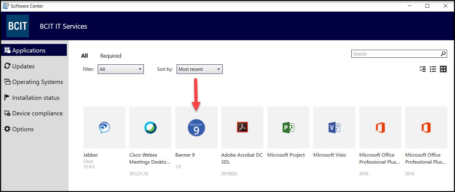 Screenshot software center banner 9 app