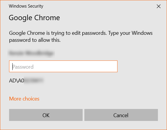 Windows Security pop-up